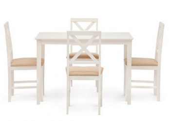 Обеденная группа «Hudson Dining Set Ivory white HE490-01»